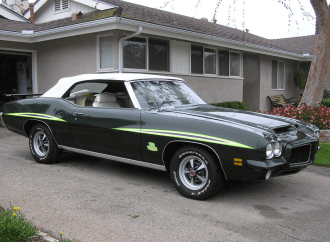 The only 1971 green over white Pontiac GTO Judge convertible