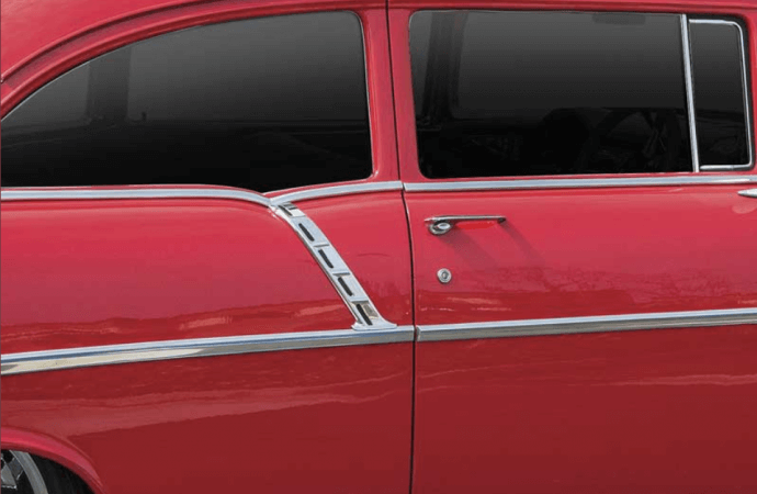 Tri-Five Chevy paint divider moldings