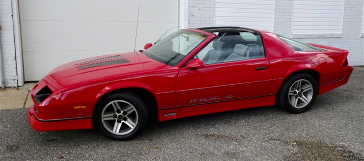 1985 Chevrolet IROC Camaro Z28 has had only one owner
