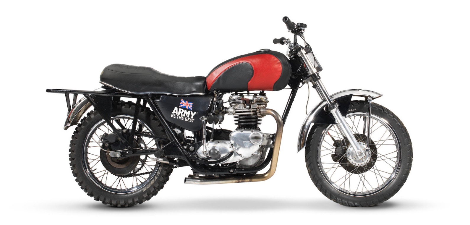 Triumph motorcycles used by British military team heading to auction