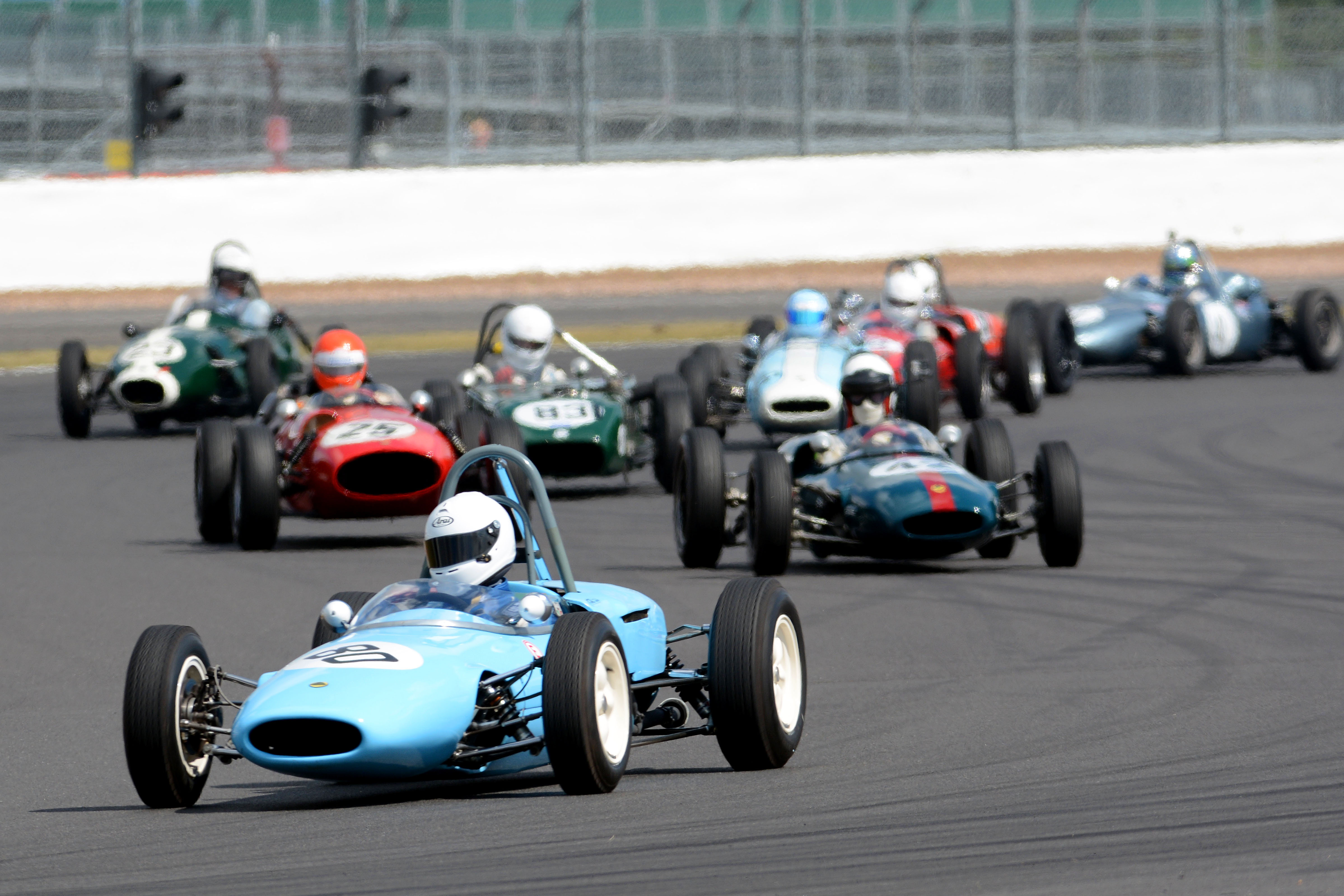 Vintage Formula Junior racers wrap up anniversary tour at Silverstone