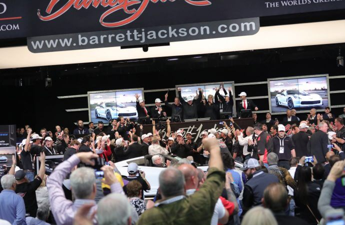 Former President Bush helps Barrett-Jackson reach charity milestone