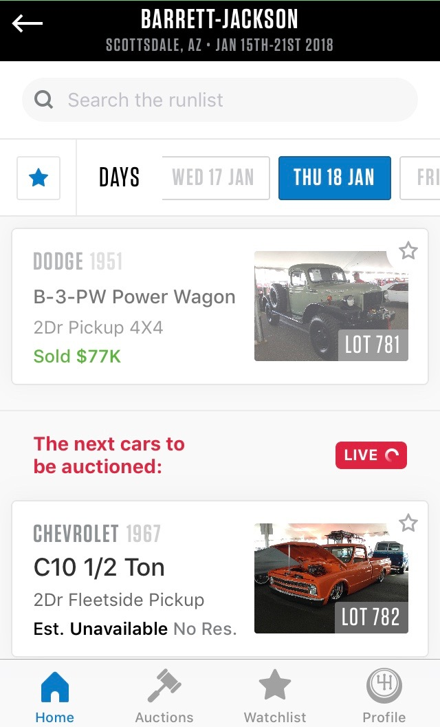 , Hagerty offers Arizona auction coverage, car by car as they cross block, ClassicCars.com Journal