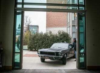 'Bullitt' Mustang hero car on display in Traverse City, Michigan