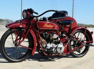 Ex-Steve McQueen '23 Indian and sidecar