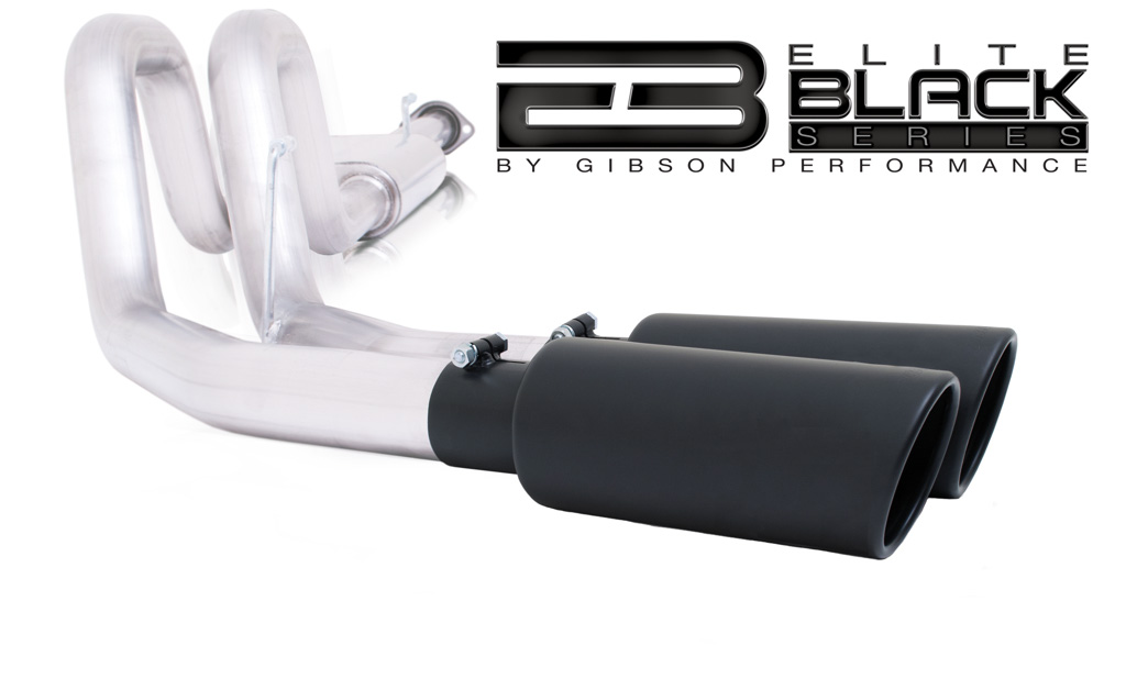 The Black Elite Series exhaust systems are designed to resonate at a deeper tone and are finished in Gibson's signature black. These intimidating dual or single exhaust systems are manufactured