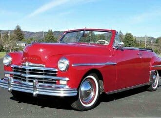 Top-down 1949 Plymouth DeLuxe