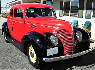 Salesman's 1939 Ford coupe