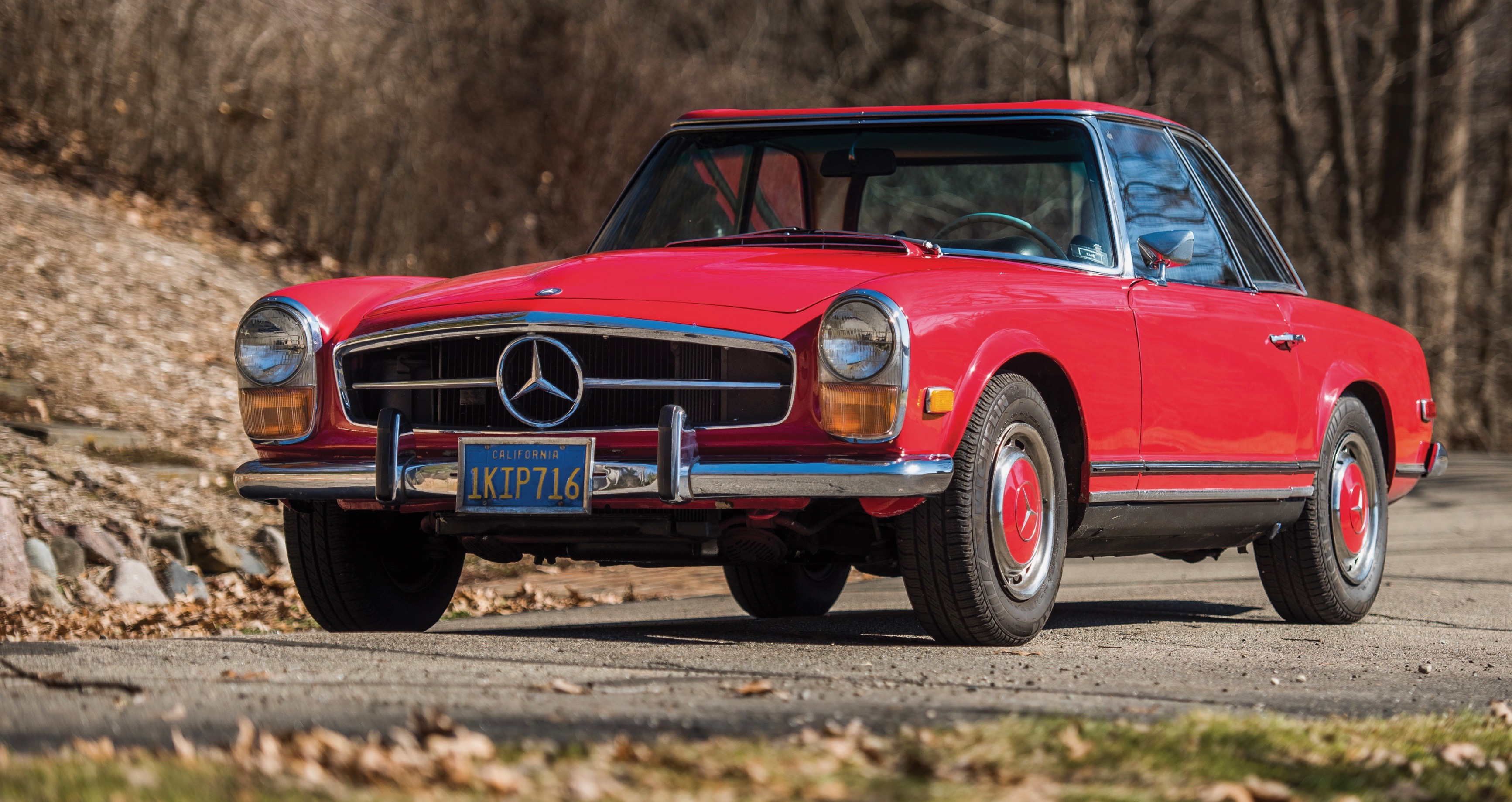 Red 1970 Mercedes-Benz 280 SL