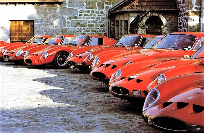 A lineup of GTOs in London