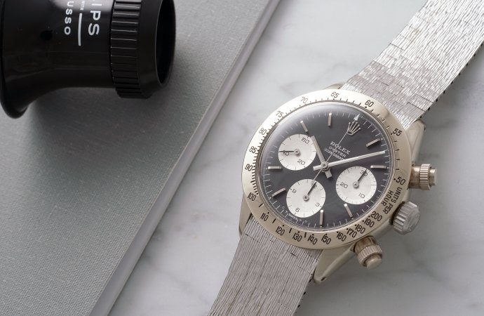 Only white-gold Rolex Daytona going to auction