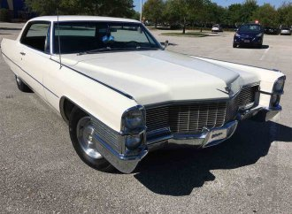 Large and long Caddy coupe