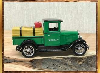 Woodworking company celebrates 90 years with vintage Chevy truck banks