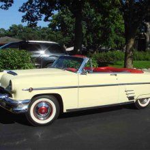 Muscled-up '54 Merc convertible