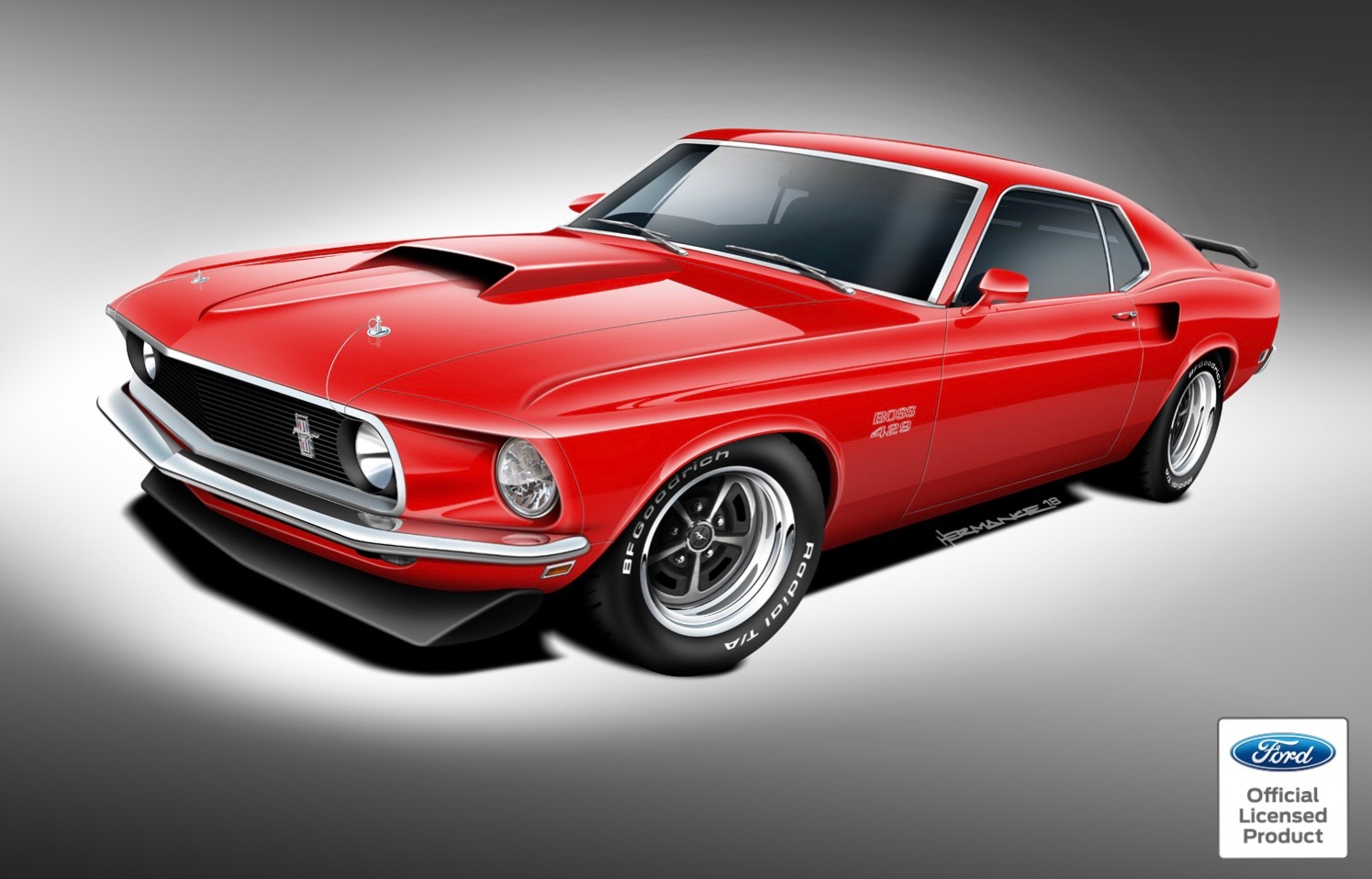 Boss 429 will be the first of the re issued ford mustang muscle cars classic recreations illustration classic recreations lands licensing agreement with