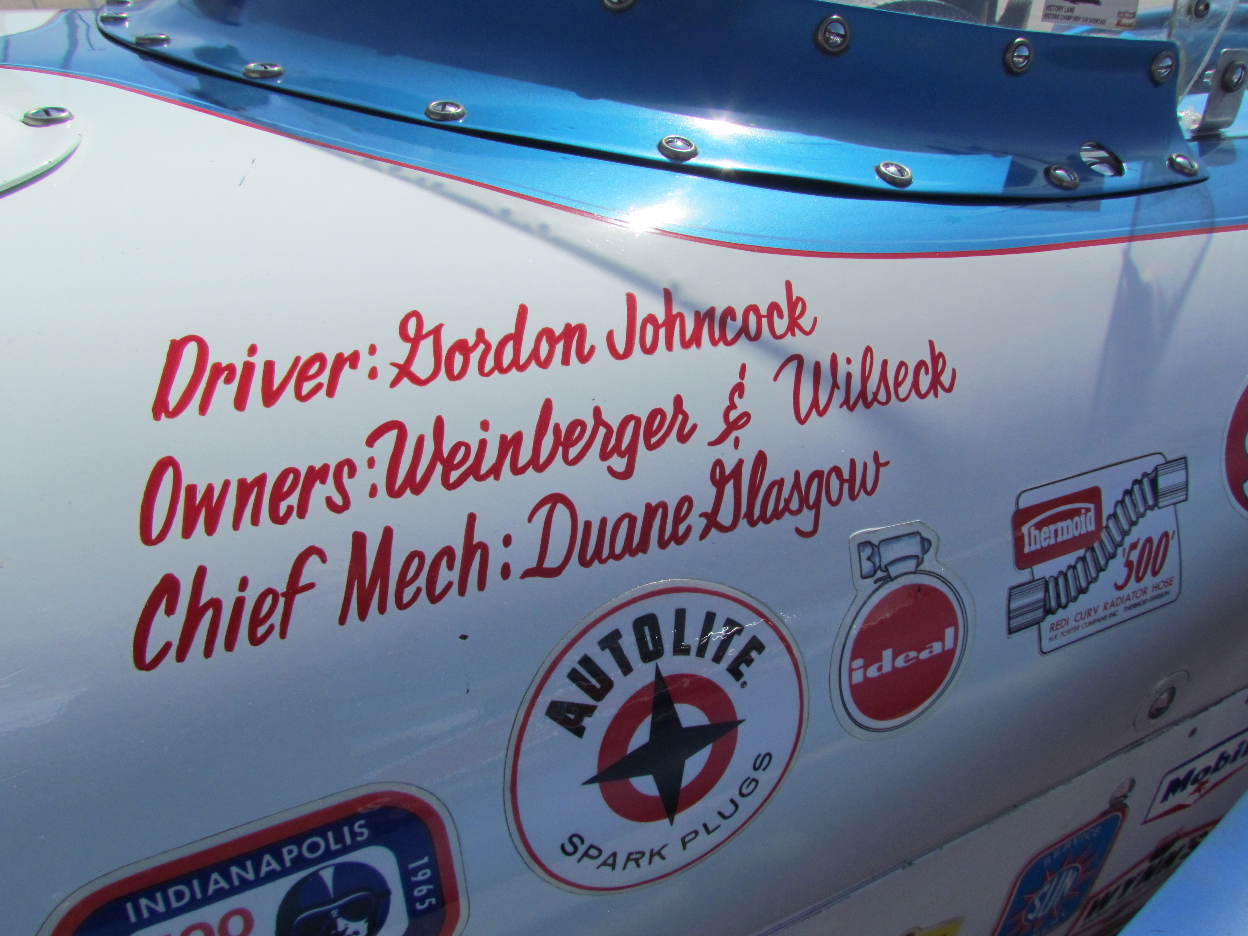 Names on old Indy cars rekindle memories