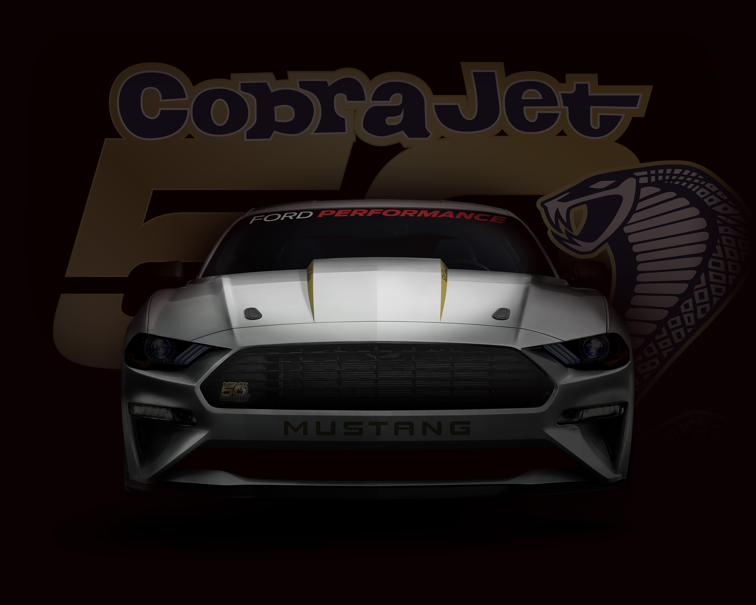 This artist's rendering teased the 2018 Ford Mustang Cobra Jet. | Ford Motor Company photo