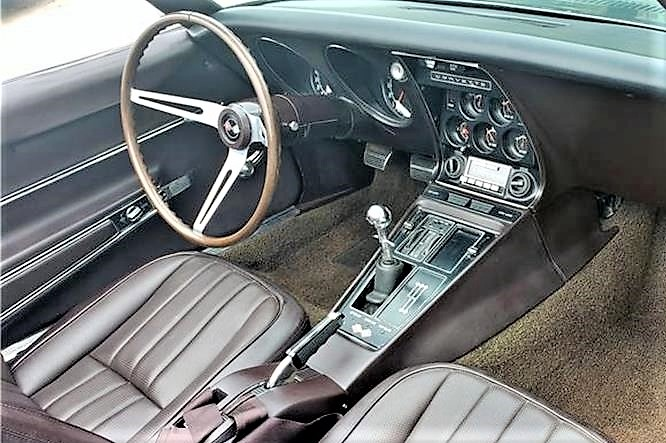 The interior is in its original Tobacco Brown