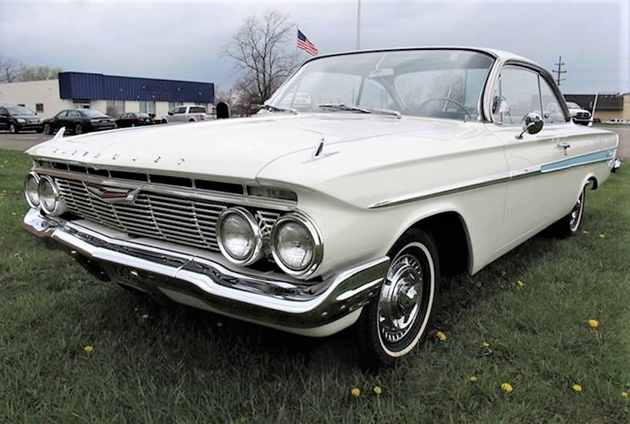 The '61 Impala is a handsomely styled hardtop