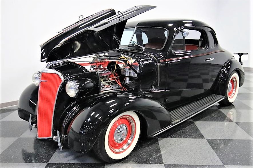 The custom Chevy has been done with style and refinement