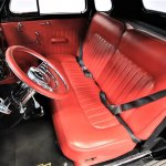 The Chevy's red interior has been updated for comfort