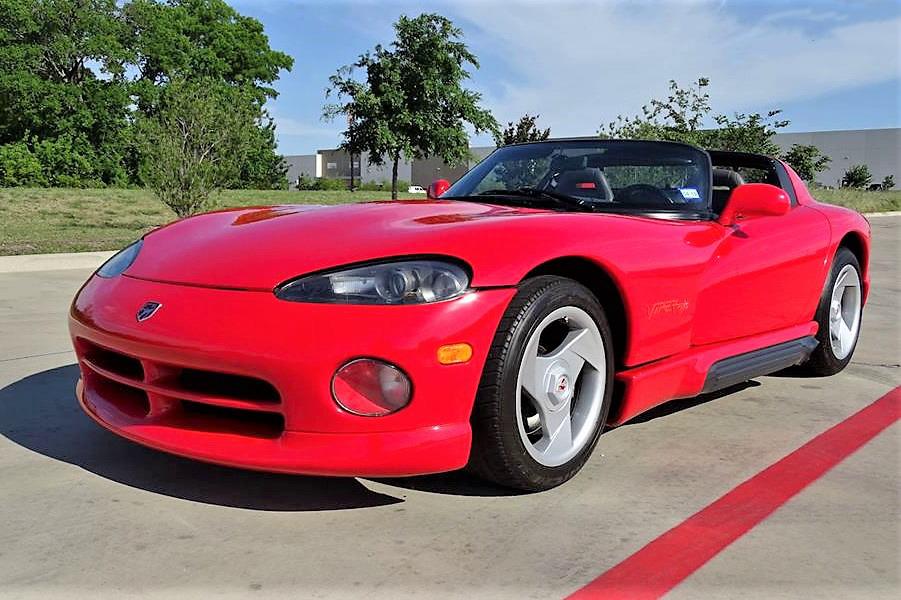 1995 Dodge Viper Rt 10 Roadster Packs V10 Muscle