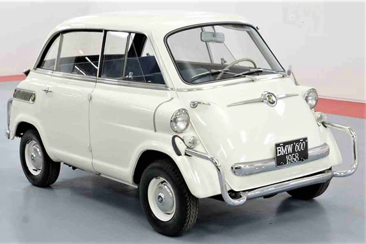 The Limo adds two feet and two seats to the standard BMW Isetta