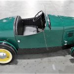 The boattail rear gives the two-seat Austin a sporty aspect