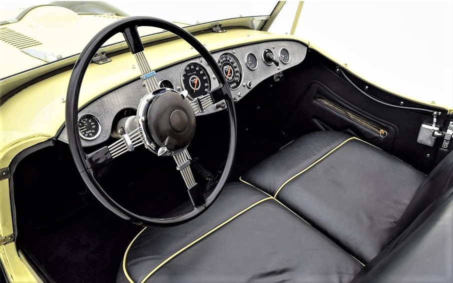 The cockpit is fitted with a Brooklands steering wheel