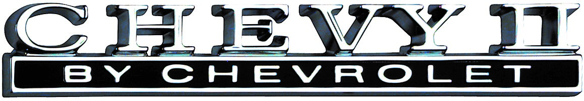 This is the trunk-lid emblem for the 1968 Chevy II