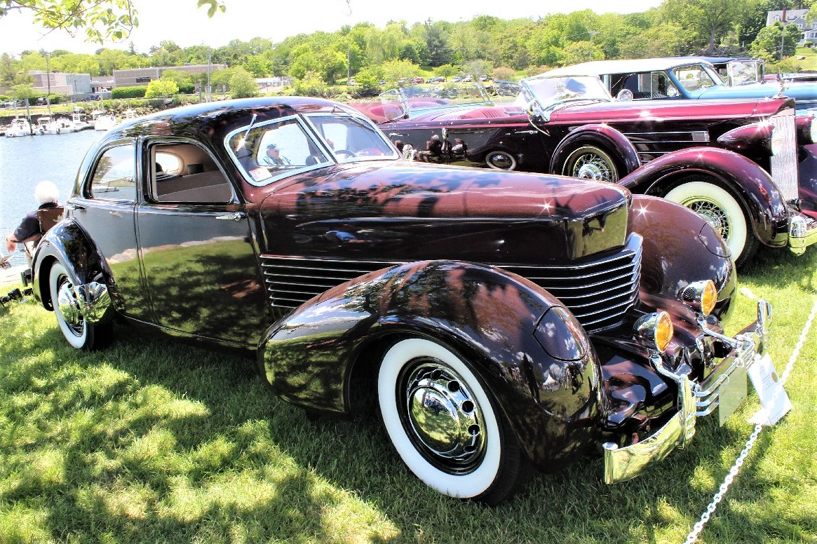 A shapely Cord Beverly sedan at last year's concours | Greenwich Concours