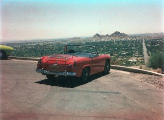 Driving an MG Midget across the country to Arizona in 1977