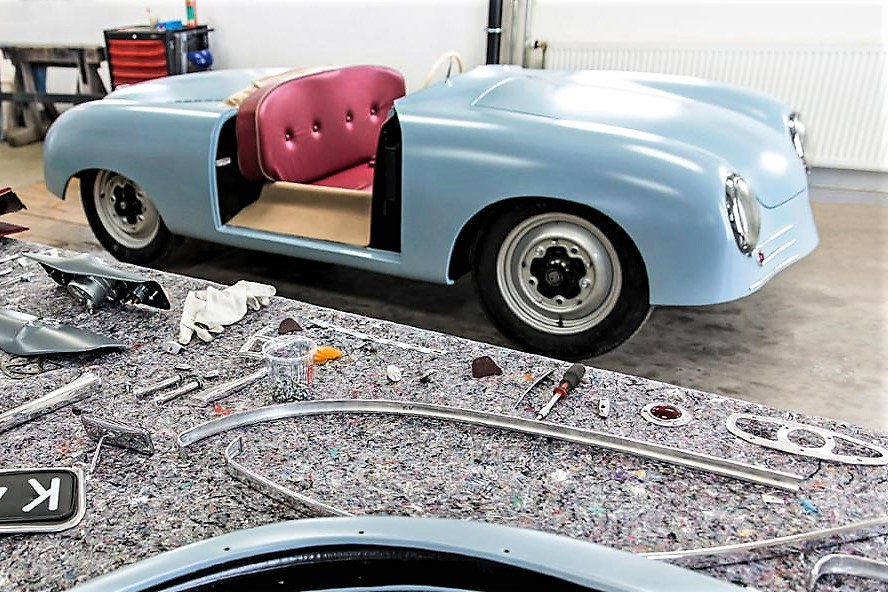 The re-creation of the original 1948 Porsche 356 is assembled in Stuttgart | Porsche Museum