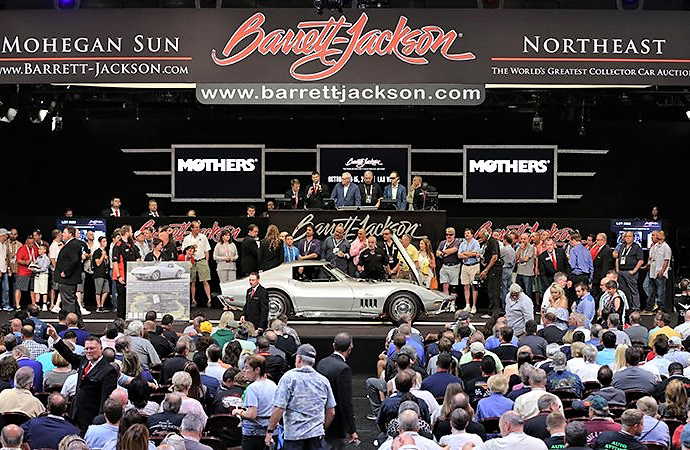 Take a free ClassicCars.com tour at Barrett-Jackson Northeast