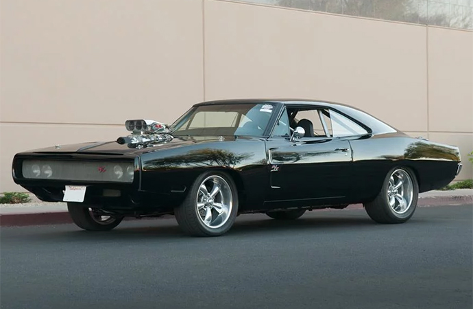 A select few of the customized Chargers used in the movies have popped up for sale. | Barrett-Jackson Photo
