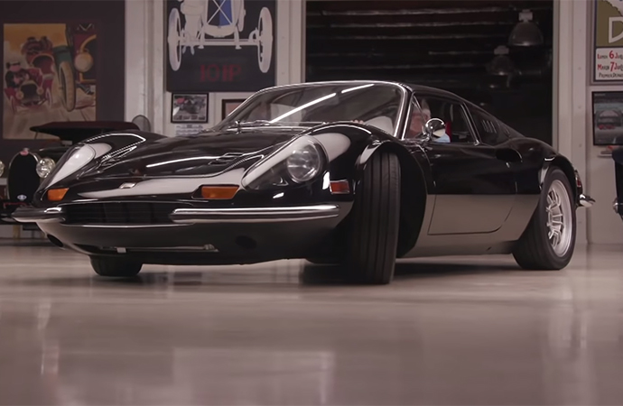 What started life as a 1972 Dino has been transformed into the restomodded machine now called a Dino Monza 3.6 Evo. David Lee brought the car to Jay Leno's Garage so the affable car lover could give it a proper once over.
