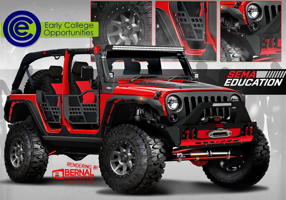The planned look for the finished Jeep