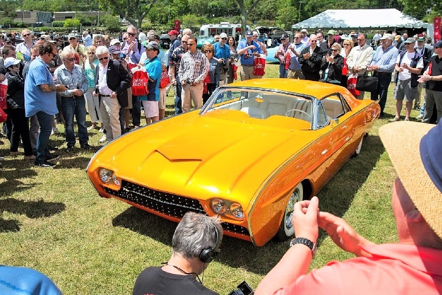 Spectators crowd around a custom Thunderbird at the Greenwich Concours last year | Greenwich Concours