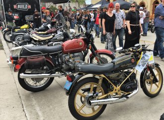 Brewtown rumbles with the sound of vintage motorcycles