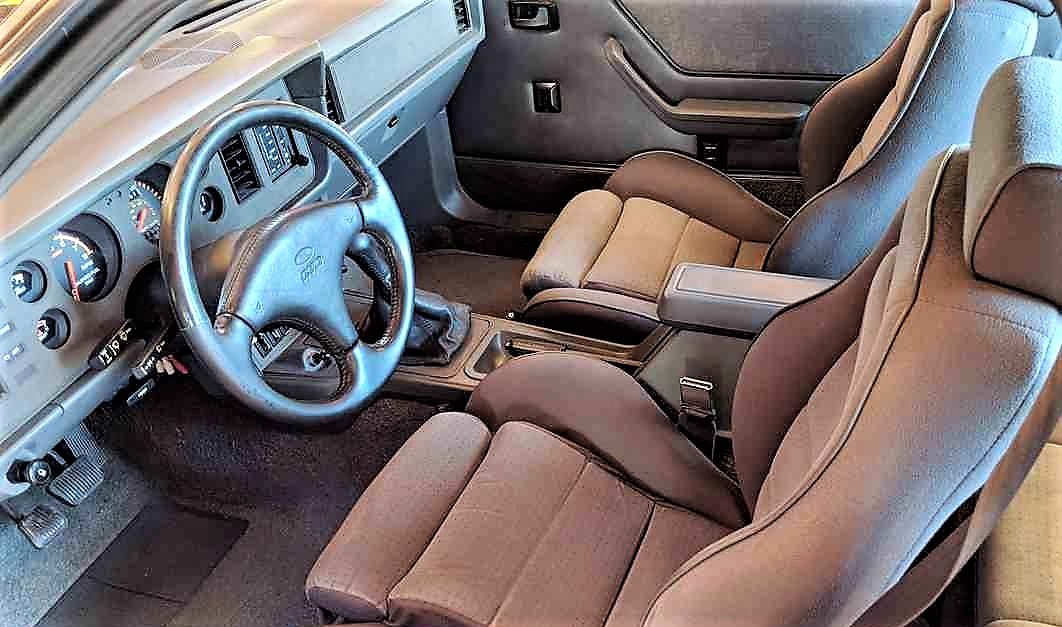 The interior of the Mustang SVO is said to be in excellent original condition