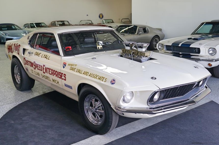 The Mustang Boss 429 has been restored to its racing livery
