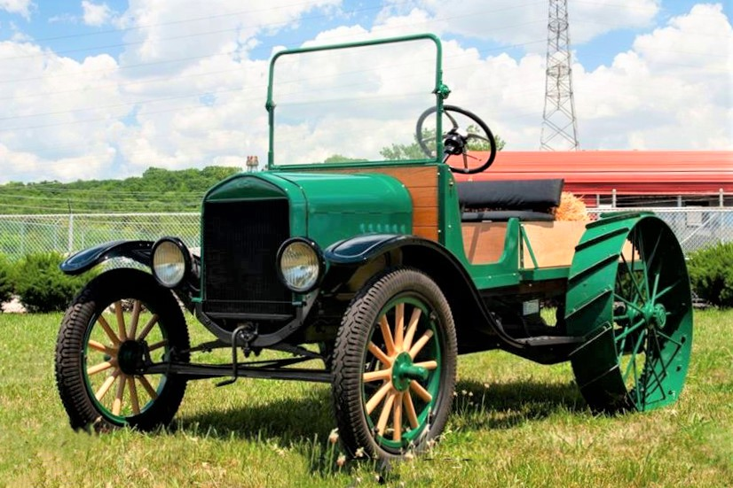 The Ford Model T tractor has been to restored to its farming days