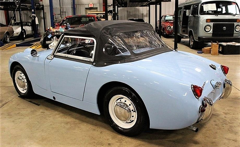 The Bugeye Sprite looks to be in excellent restored condition