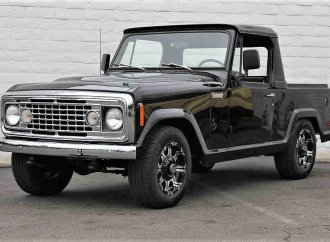Black-on-black Jeep Commando custom 4X4 pickup