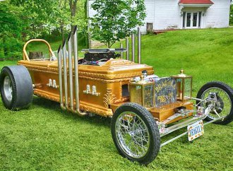 Eddie Munster's coffin dragster