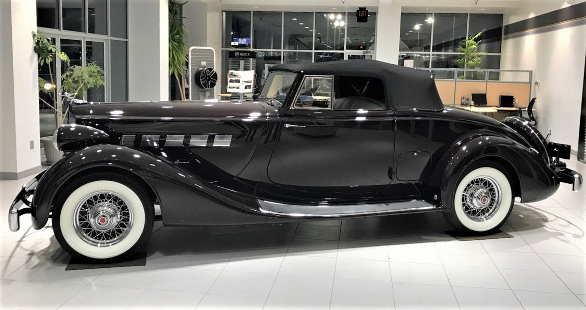 The luxurious Packard is powered by a straight-8 engine
