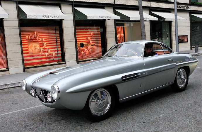 The 1953 Fiat 8V Supersonic will be shown on Rodeo Drive