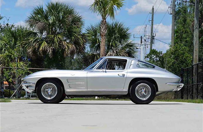 This 1963 Chevrolet Corvette split window coupe will be on the auction block at Barrett-Jackson's Northeast auction June 20-23.   Barrett-Jackson photo