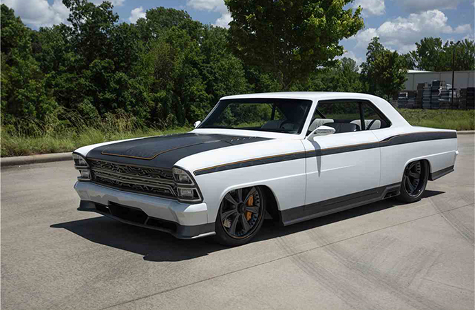 This custom 1967 Chevrolet Nova will be up for sale at Barrett-Jackson's Northeast auction June 20-23 in Uncasville, Connecticut. | Barrett-Jackson photo