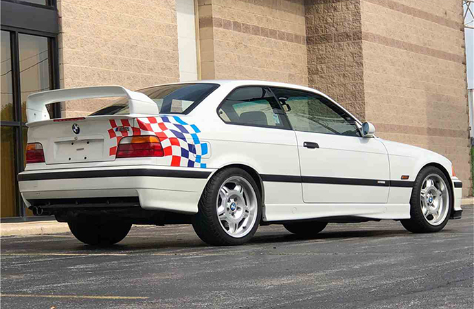 This 1995 BMWM3 Lightweight will be one of the cars available at Barrett-Jackson's Northeast auction June 20-23 in Uncasville, Connecticut.   Barrett-Jackson photo
